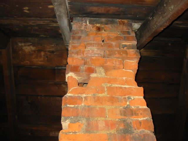 Missing brick in attic